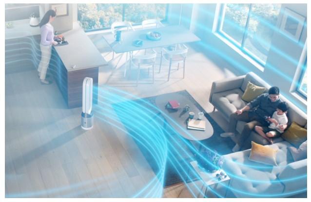 čistička vzduchu Dyson v domácnosti