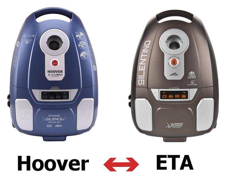 shodné vysavače ETA a Hoover