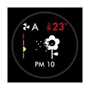 Graf kvality vzduchu Dyson HP4