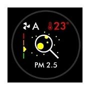 Hodnota PM2,5 čistička Dyson