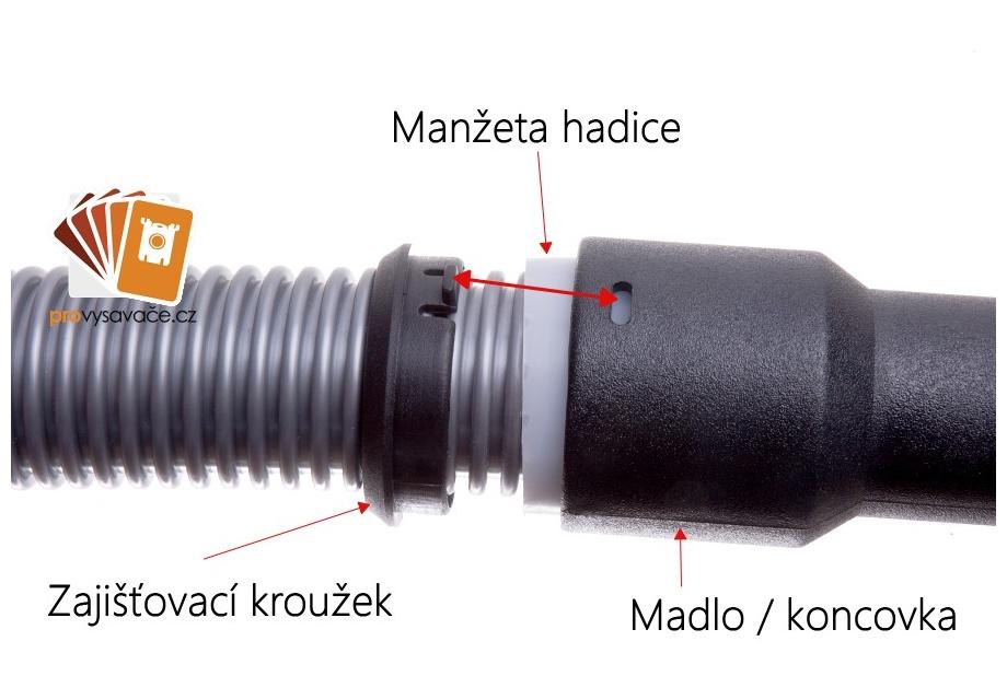 spojení hadice a koncovky
