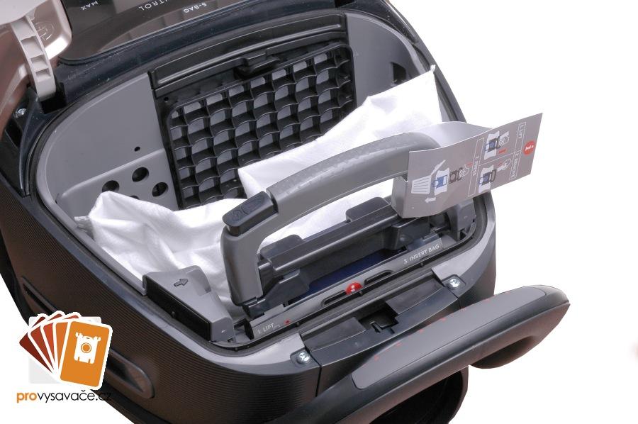 Sáček s-bag s držákem ve vysavači