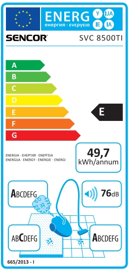 Energetický štítek Concept VP 8500