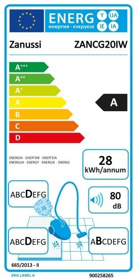 energetický štítek Zanussi CompactGo