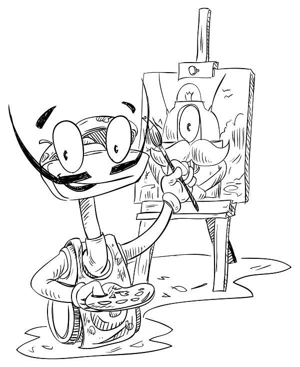 Luxík malířem