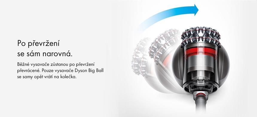 Vysavač Dyson Cinetic Big Ball Absolute 2 sám se narovná