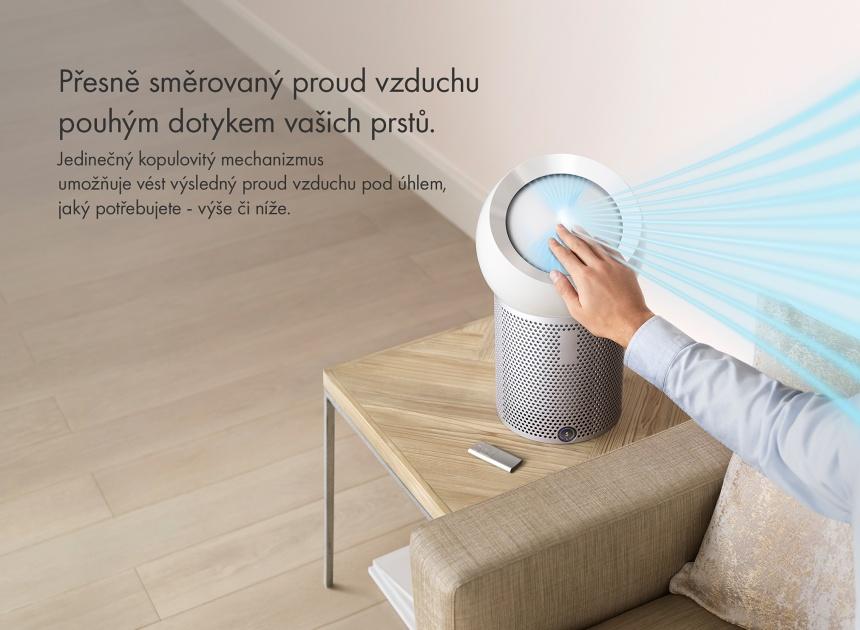 Osobní čistička vzduchu Dyson Pure Cool Me BP01 tok vzduchu
