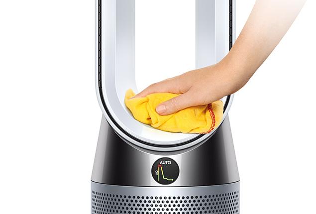 Topení a čistička vzduchu Dyson HP04 snadné čištění