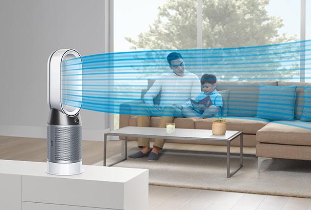 Topení a čistička vzduchu Dyson HP04 chlazení v létě