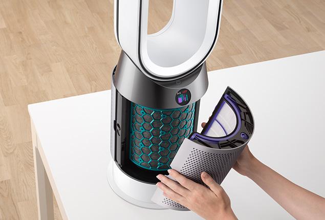 Topení a čistička vzduchu Dyson HP04 údržba filtru