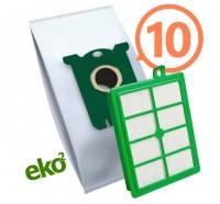 1SBAG MAX sáčky textilní 10x + HEPA filtr do vysavačů Electrolux a Philips pro AEG LX7-1, LX7-2