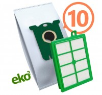 1SBAG MAX sáčky textilní 10x + HEPA filtr do vysavačů Electrolux a Philips pro AEG Ergospace AESG 300