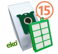 1SBAG MAX sáčky textilní 15x + HEPA filtr do vysavačů Electrolux a Philips pro AEG Ergospace AESG 300