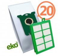 1SBAG MAX sáčky textilní 20x + HEPA filtr do vysavačů Electrolux a Philips pro AEG LX7-1, LX7-2