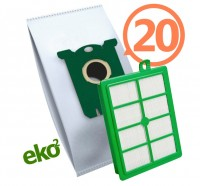 1SBAG MAX sáčky textilní 20x + HEPA filtr do vysavačů Electrolux a Philips pro AEG Ergospace AESG 300