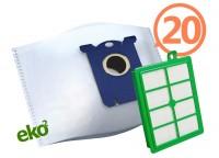 2SBAG MAX sáčky textilní 20x + HEPA filtr do vysavačů Electrolux a Philips pro AEG Ergospace AESG 300
