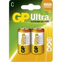 Alkalická baterie GP Ultra LR14 (C), 2 ks v blistru