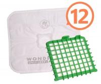 Sáčky Rowenta Wonderbag Universal 12 ks + orig. HEPA filtr