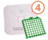 Sáčky Rowenta Wonderbag Universal 4 ks + orig. HEPA filtr