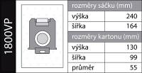 Sáčky s-bag a filtr EFH13W v sadě Menalux 1800VP do vysavačů Electrolux, AEG, Philips pro AEG LX7-1, LX7-2
