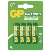 GP Zinkochloridová baterie Greencell R6 (AA), 4 ks