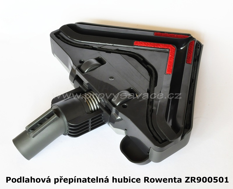 Podlahová hubice Rowenta Delta ZR900501 spodní část se zasunutým kartáčem 3